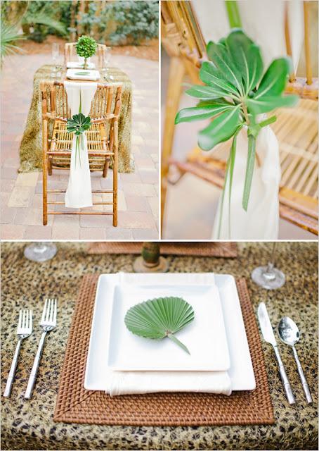 Сафари свадебный декор