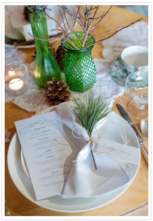 Зимняя свадьба - декор