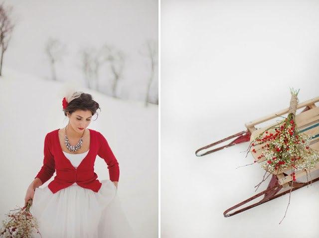 Букет для зимней невесты
