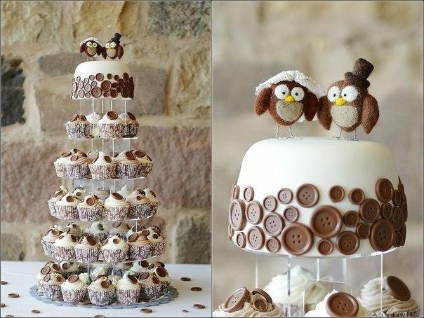 Свадебный торт с пирожными