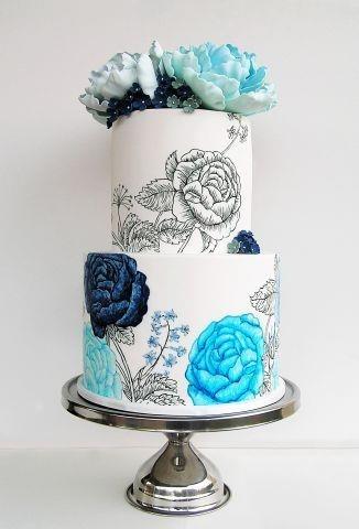 Романтичный свадебный тортик
