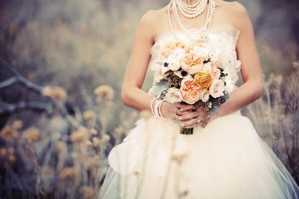 Букет невесты в осенней гамме