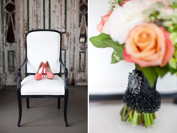 Букет невесты с брошью