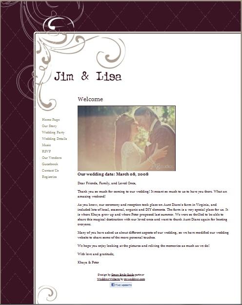 Сайт на свадьбу