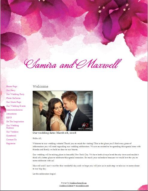 Разработка свадебного сайта
