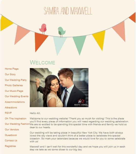 Сайт-приглашение на свадьбу