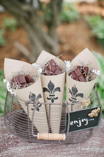 Кулечки с шоколадом