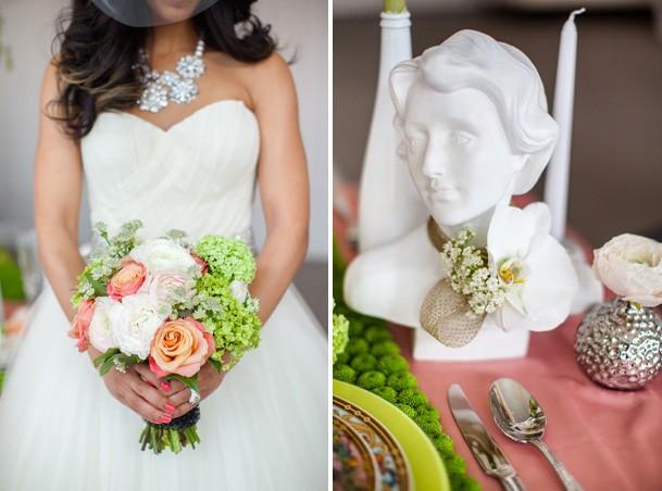 Сочный букет невесты