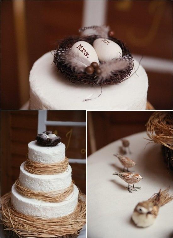 Свадебный торт с гнездом