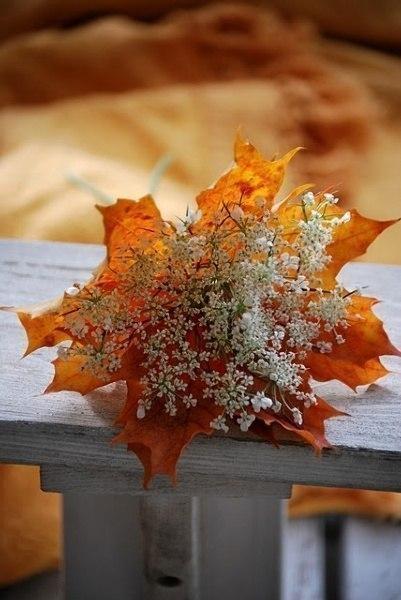 Букет невесты из осенних листьев