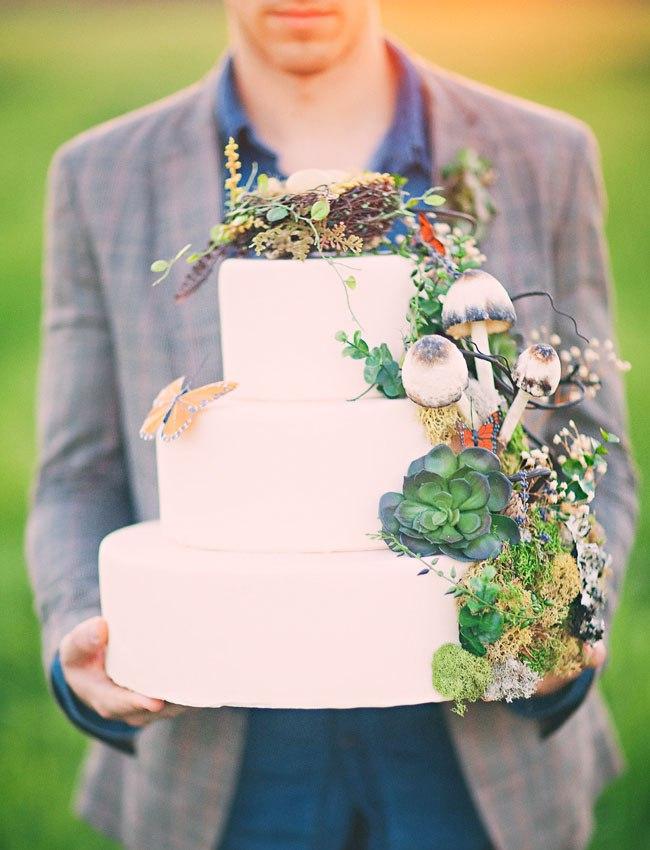 Лесной торт на свадьбу