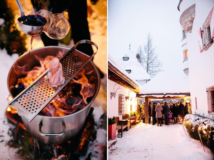 Глинтвейн на зимней свадьбе