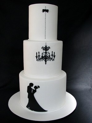 Торт с контурами