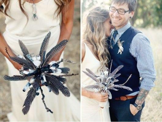 Букет невесты из бисера и ложек