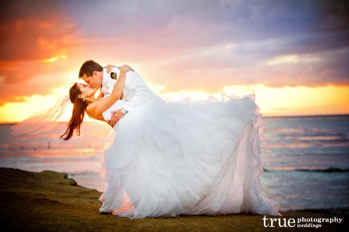 Свадьба военнослужащего на закате
