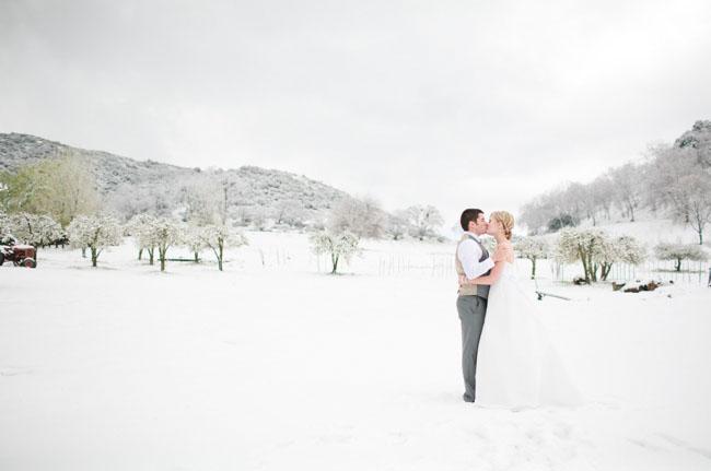 Снежная свадьба в апреле
