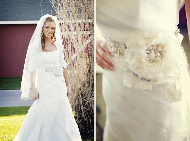 Свадебное платье с интересным поясом