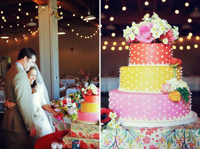 Позитивный свадебный торт