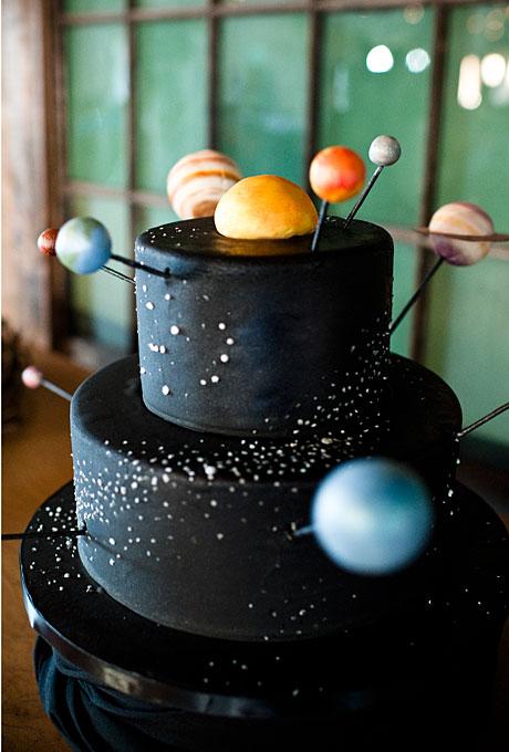 Свадебный торт солнечная система