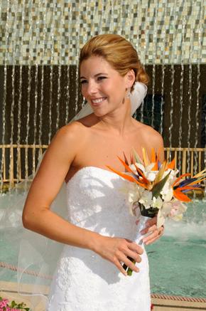 Букт невесты со стрелицией