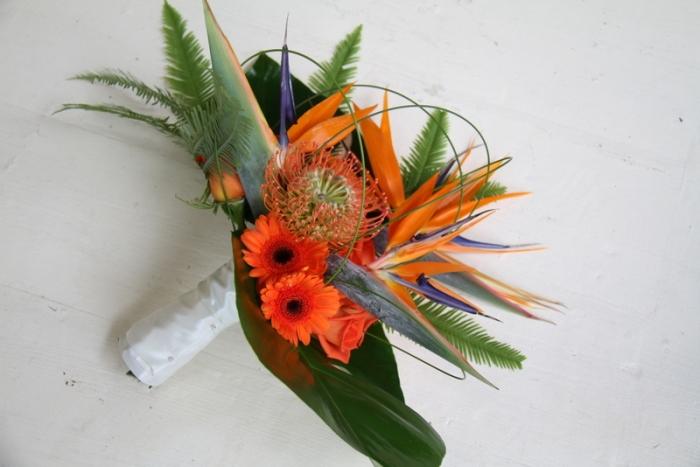 Букет невесты стрелиция