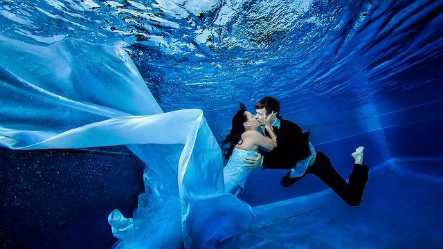 Свадебная съемка в воде