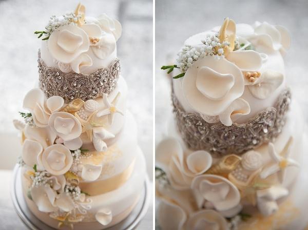 Торт свадебный морской тематики
