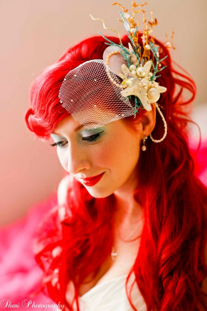 Невеста в образе русалочки Ариэль