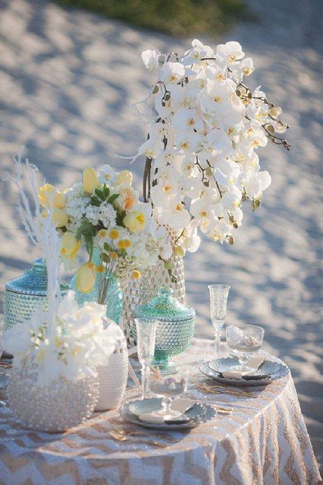 По мотивам русалочки - свадебное оформление