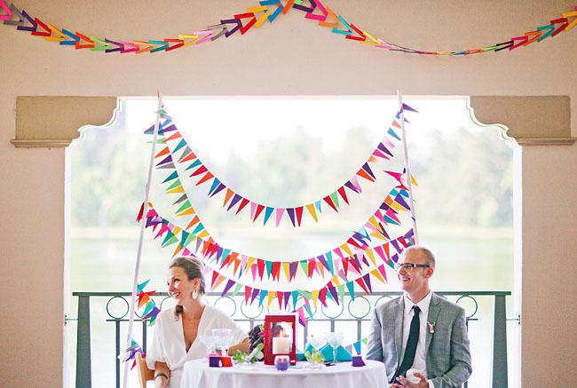 Флажки в свадебном декоре