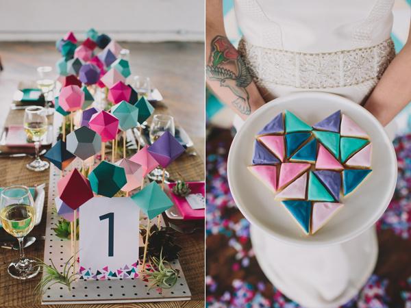 Геометрическое свадебное вдохновение