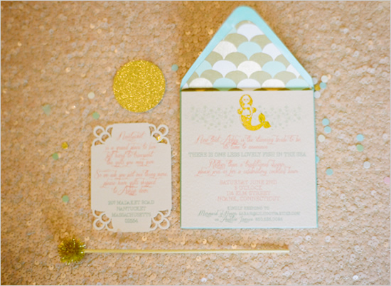 Приглашения на свадьбу русалочка