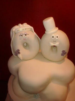 Пончики - жених и невеста
