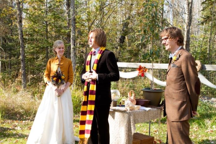 Церемония бракосочетания в стиле Гарри Поттер