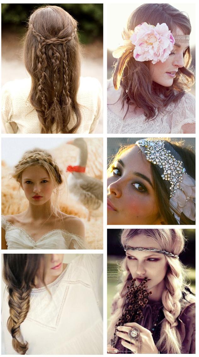 Прически в стиле бохо на свадьбу