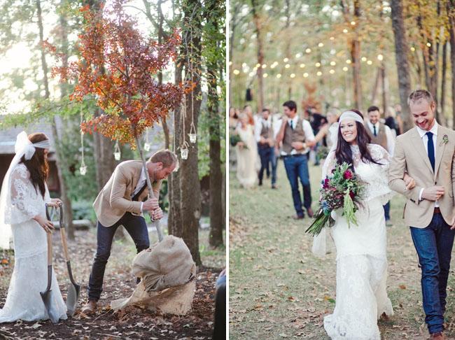 Посадка дерева на свадьбе