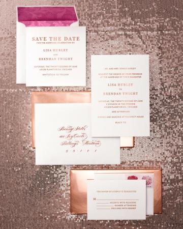 Металлик свадебные приглашения