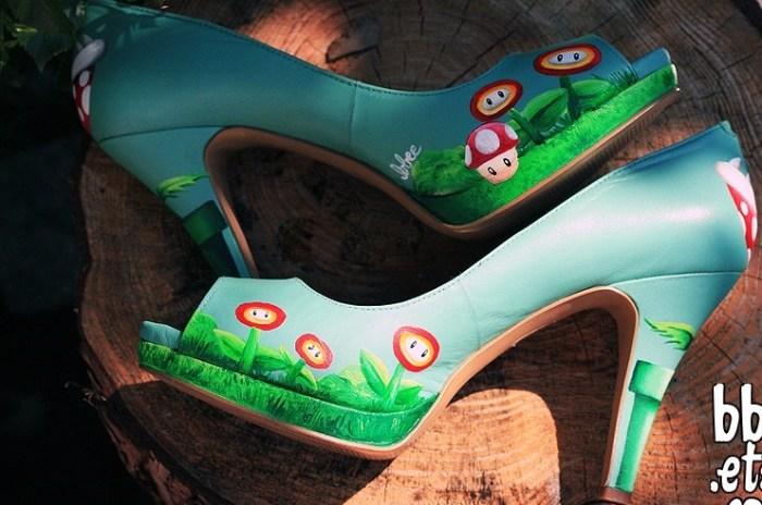 Туфли для тематической свадьбы Супер Марио