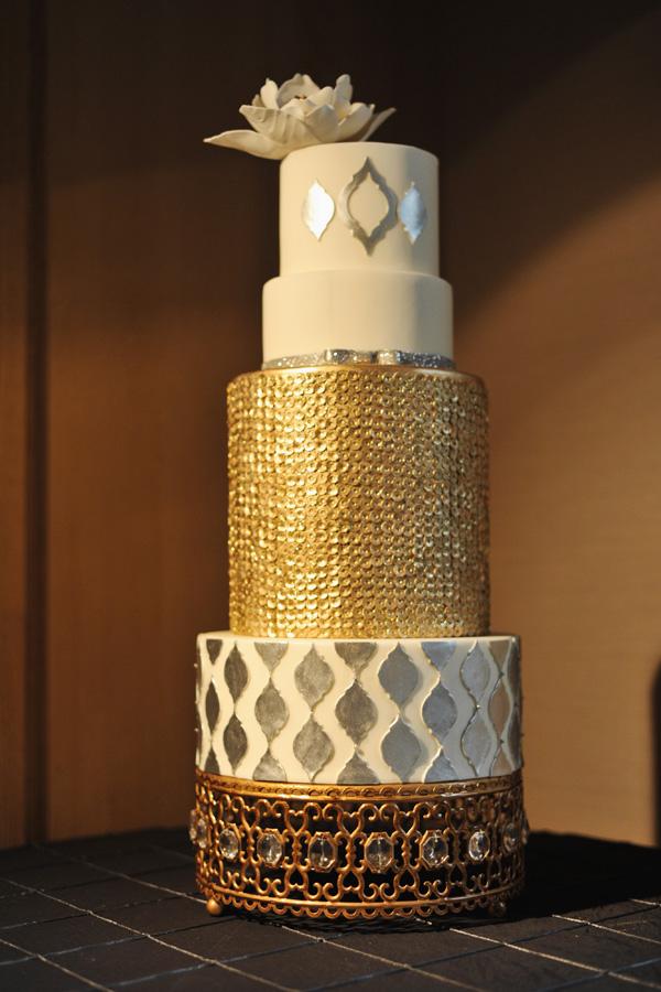 Свадебный торт металлик