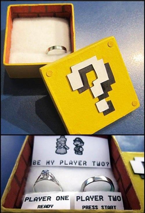 Свадьба в стиле игры Марио