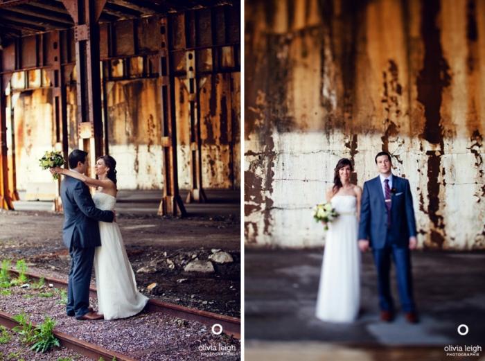 Индустриальные свадебные съемки