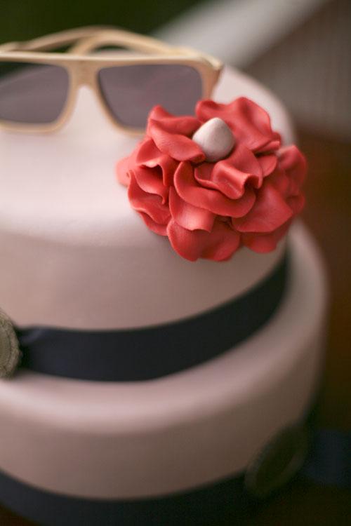 Хипстерский свадебный торт