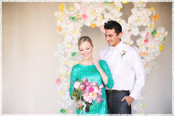 Не белое свадебное платье