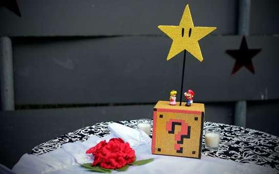 Детали тематической свадьбы Супер-Марио