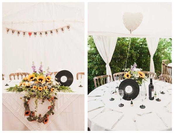Свадебный декор с подсолнечниками