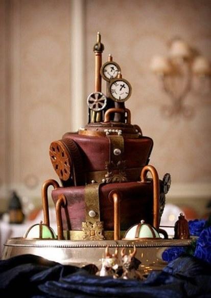 Свадебный торт в стиле стимпанк