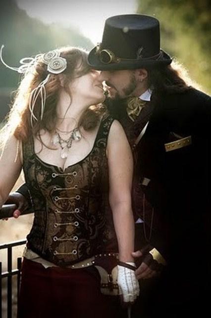 Романтический свадебный стимпанк