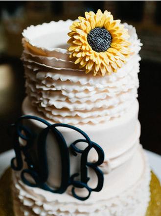 Свадебный торт с подсолнухом