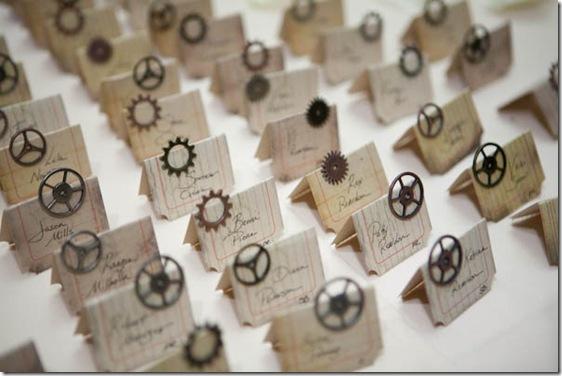 Steampunk рассадочные карточки