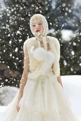 Образ невесты для зимы